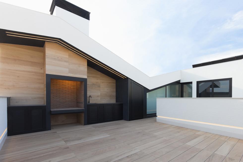 Terraza Madera Casa De Pueblo Moderna Chiralt Arquitectos