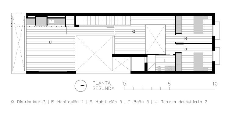 planos de casa de pueblo moderna I Chiralt Arquitectos Valencia