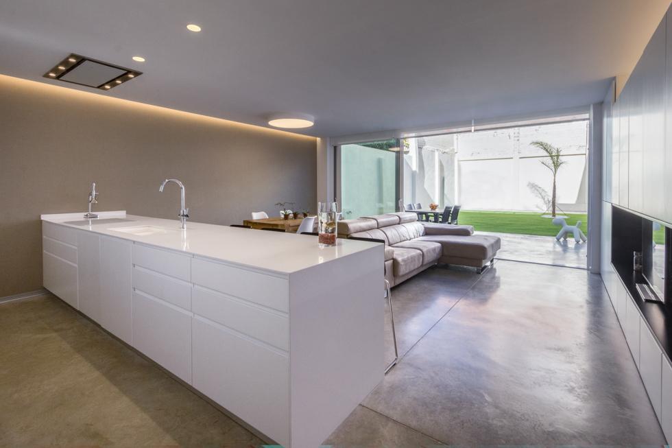 Cocina office estilo escandinavo en vivienda estilo nórdico - Chiralt Arquitectos Valencia
